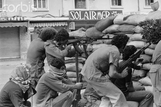 scènes de combat (armée libanaise, palestinien, chrétien...) 1982