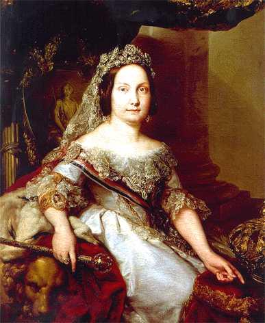 La mantilla española Isabel-ii