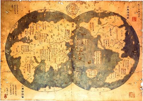 ¿Quién fue el primer europeo en descubrir América?  Mapa-de-menzies