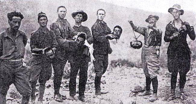 La guerra del Rif. Legionarios cortando cabezas en Marruecos y guerra química del ejército español. [HistoriaC] Mans-guerilla4