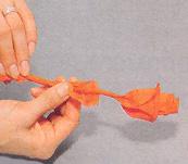 Бумажные цветы для декорирования праздничного стола. Мастер-класс 71