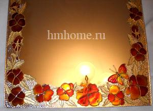 Витражная роспись зеркала. Мастер-класс 111