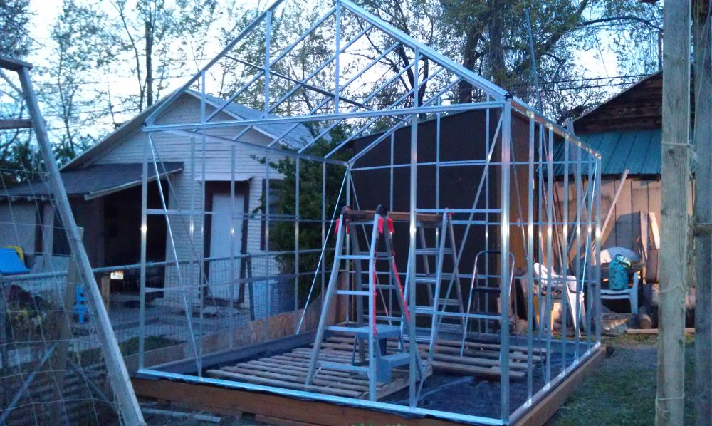 Almost a Greenhouse! Greenhouse-frame