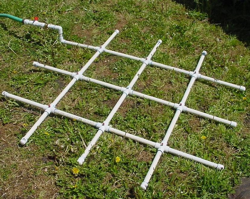 PVC Watering Grid. Grid