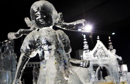Arte efímero, esculturas en hielo y nieve Escultura-hielo