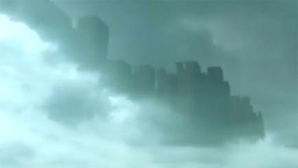 """Canine 'appears' to see a """"ghostly"""" apparition in photo! - """"Disc"""" - 'City Scape' in Sky and more! Amazing-floating-city-appears-over-china-136401167752010401-151019160105"""