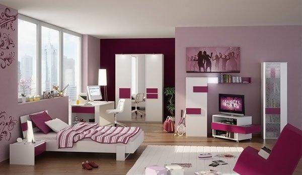 modern bedroom for teen girls 1-3d-teen