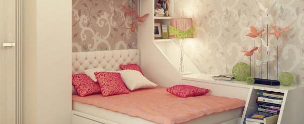 modern bedroom for teen girls Teenage-girls-bedroom-ideas-610x250