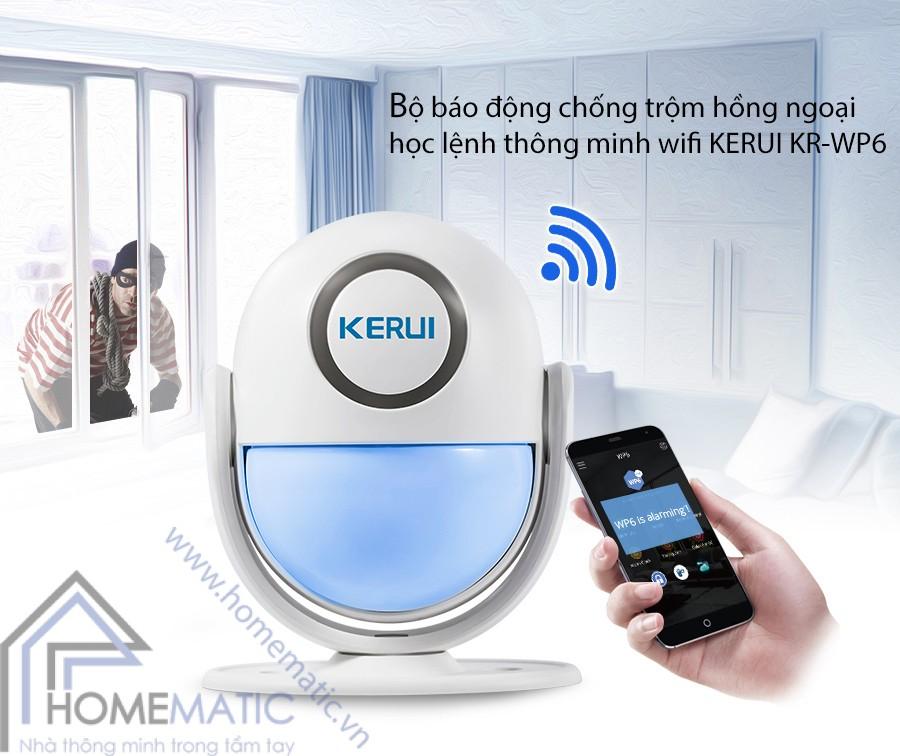 Sản phẩm cần bán: Thiết bị an ninh cho gia đình, phòng trọ Homematic.vn_bo-bao-dong-chong-trom-hong-ngoai-hoc-lenh-thong-minh-wifi-kerui-kr-wp6