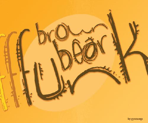 40款免费的精品卡通字体下载 Brown-Bear-Funk