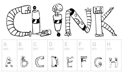 40款免费的精品卡通字体下载 Clink-Clank