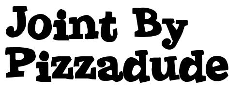 40款免费的精品卡通字体下载 Joint-By-Pizzadude