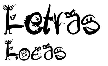 40款免费的精品卡通字体下载 Letras-Locas