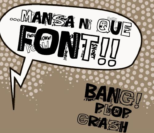 40款免费的精品卡通字体下载 Que-FONTita