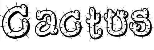 40款免费的精品卡通字体下载 Cactus