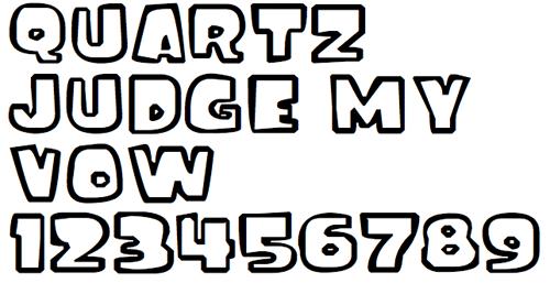 40款免费的精品卡通字体下载 Ice-age