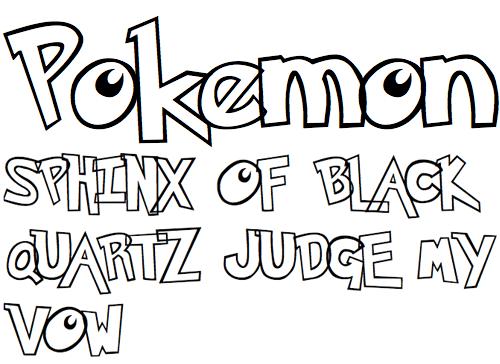 40款免费的精品卡通字体下载 Pokemon