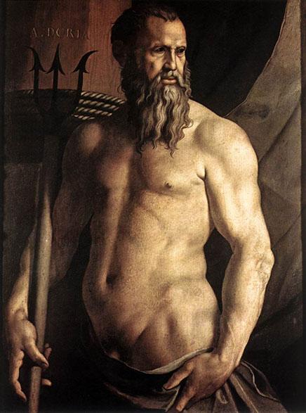 Jakopo Robusti  Tintoreto Portrait_of_Andrea_Doria_as_Neptune_1550_55