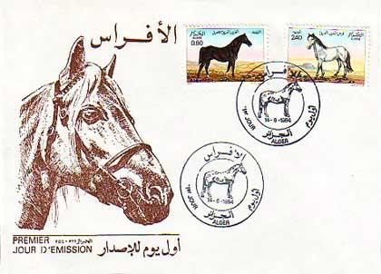 Horses / Pferde (Marken auf Brief oder Karte) - Seite 2 Algir001-fdc