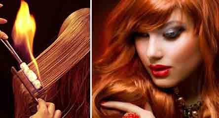 Лечение волос открытым огнем в салоне красоты  Sj_134