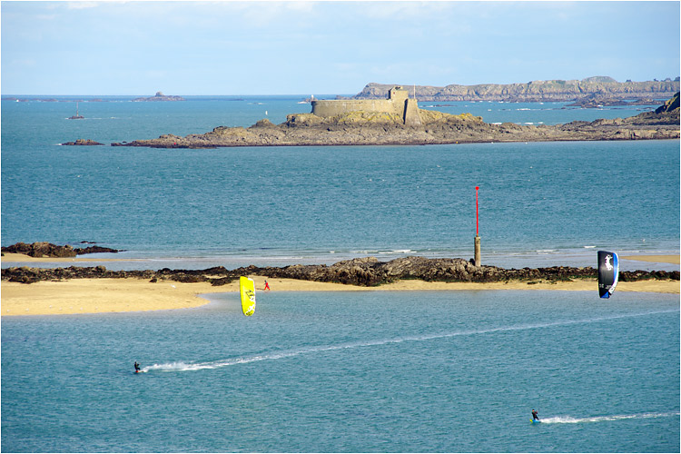 kite surf devant Dinard 31janv