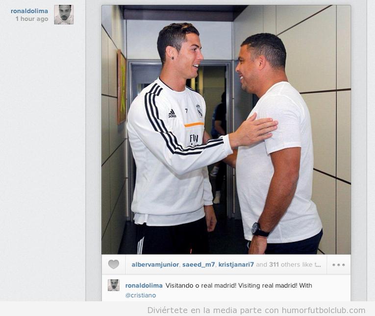 ¿Cuánto mide Ronaldo Nazario? - Estatura y peso - Real height and weight Cristiano-ronaldo-se-encuentra-con-ronaldo-nazario