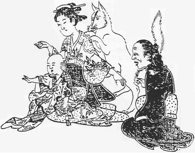 Dossier février 2015 : Le Kitsune - Esprit-renard japonais Gyokuzan_kitsunetsuki