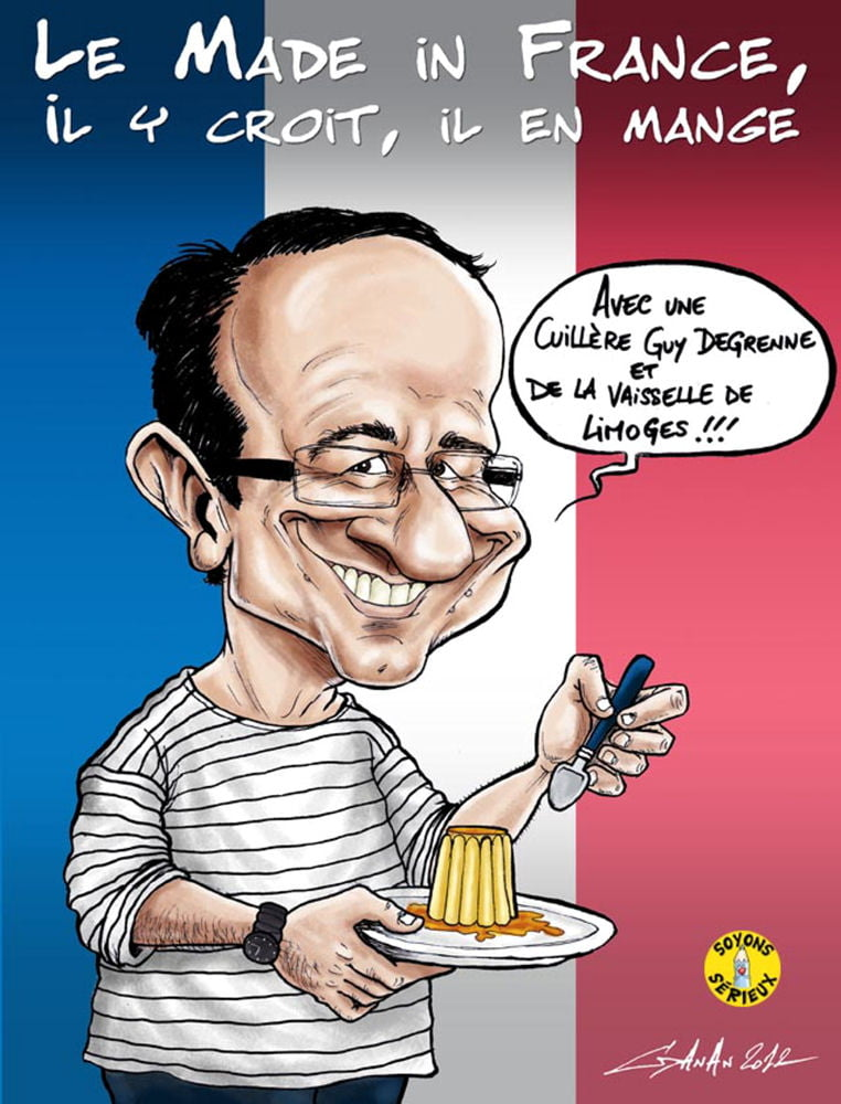 HUMOUR FRANCOIS HOLLANDE - Page 2 1630905-un-flanby-made-in-france