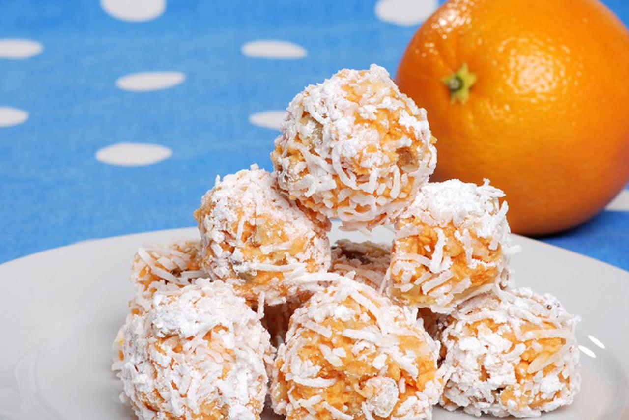 طريقة عمل كرات بسكويت البرتقال بجوز الهند  835205
