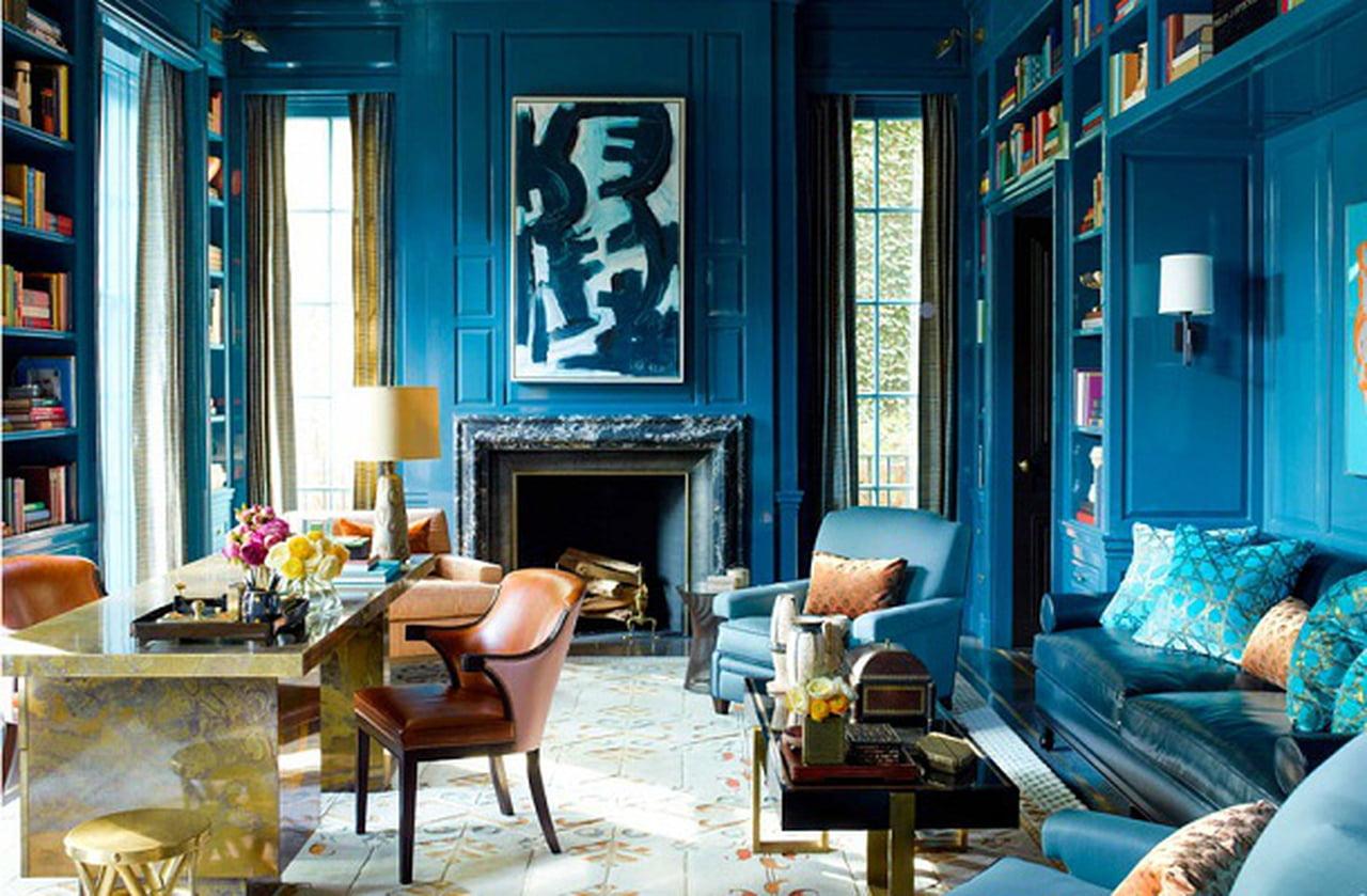 الأزرق في الأثاث وإكسسوارات المنزل 1415811