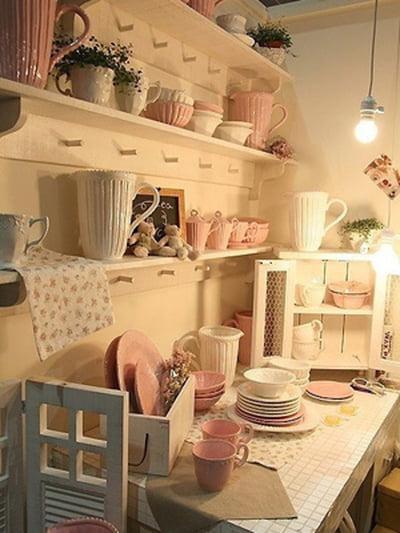 أفكار رومانسية دافئة في ديكورات المطبخ 800602