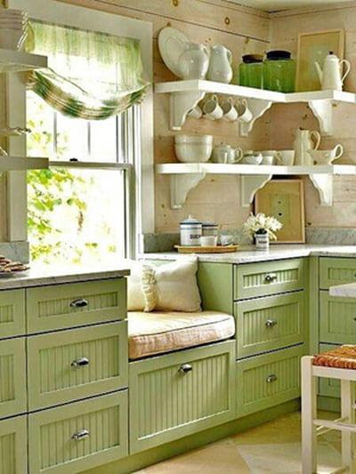 أفكار رومانسية دافئة في ديكورات المطبخ 800607