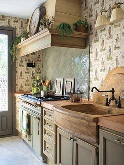 أفكار رومانسية دافئة في ديكورات المطبخ 800601