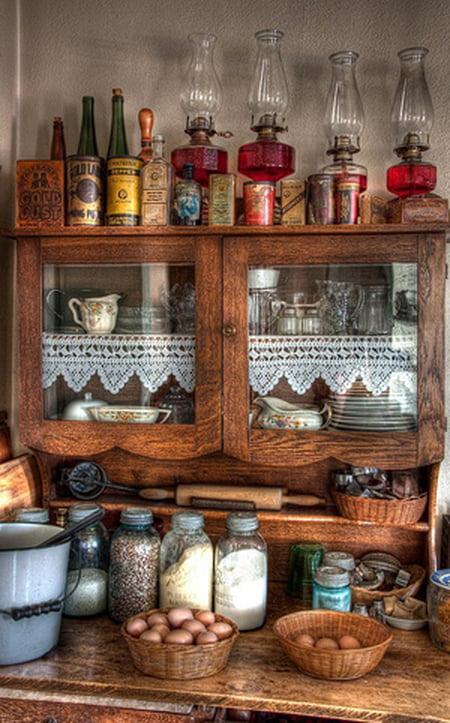 أفكار رومانسية دافئة في ديكورات المطبخ 800604