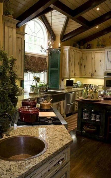 أفكار رومانسية دافئة في ديكورات المطبخ 800606