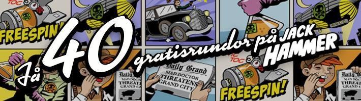 40 Free spins för 95kr hos Betsafe Jackhammer40_se