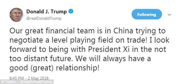 The Serious Side - part 6 - Page 5 4BCA497700000578-5685239-He_also_tweeted_about_trade_talks_with_China-a-5_1525334182109