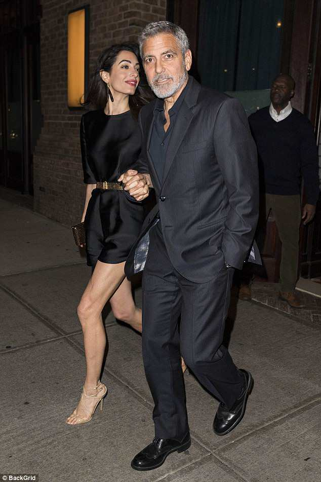 George Clooney celebrates his birthday in New York at Laconda Verde 4BEFDC1400000578-5700417-image-a-76_1525711874331