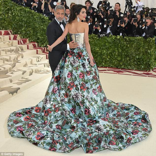 George and Amal Clooney Later at after party after the Met Gala2918 4BF3EF8600000578-0-In_love_The_duo_who_share_twins_Alexander_and_Ella_Clooney_aged_-a-5_1525781490791
