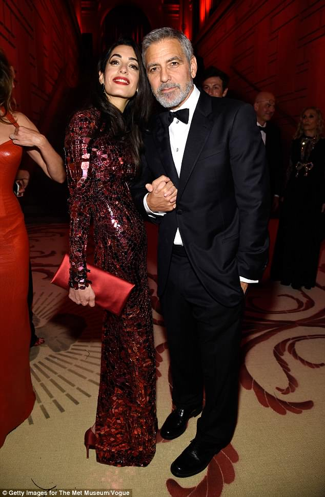 George and Amal Clooney Later at after party after the Met Gala2918 4BF6A0AA00000578-5703775-image-a-23_1525781823510