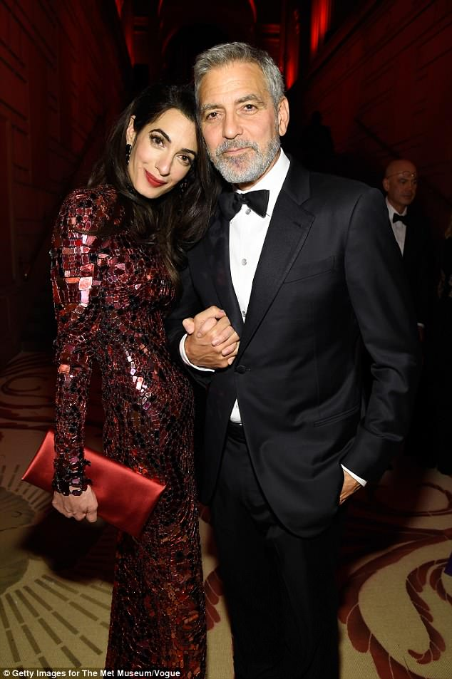 George and Amal Clooney Later at after party after the Met Gala2918 4BF6AFF300000578-5703775-image-a-22_1525781579279