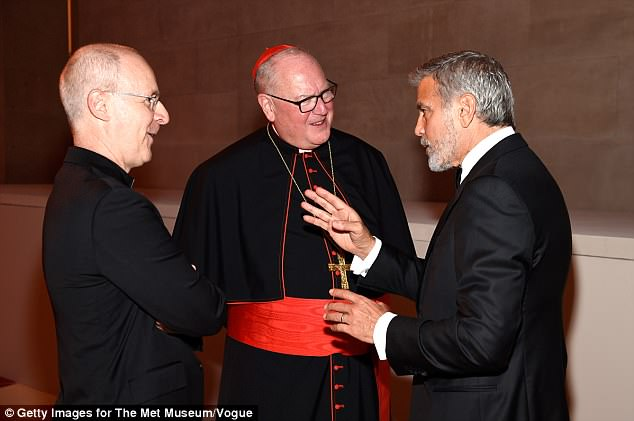 Priest with George praised at the Met Gala for his 'costume' 4BFF6C6B00000578-0-image-a-58_1525829287946