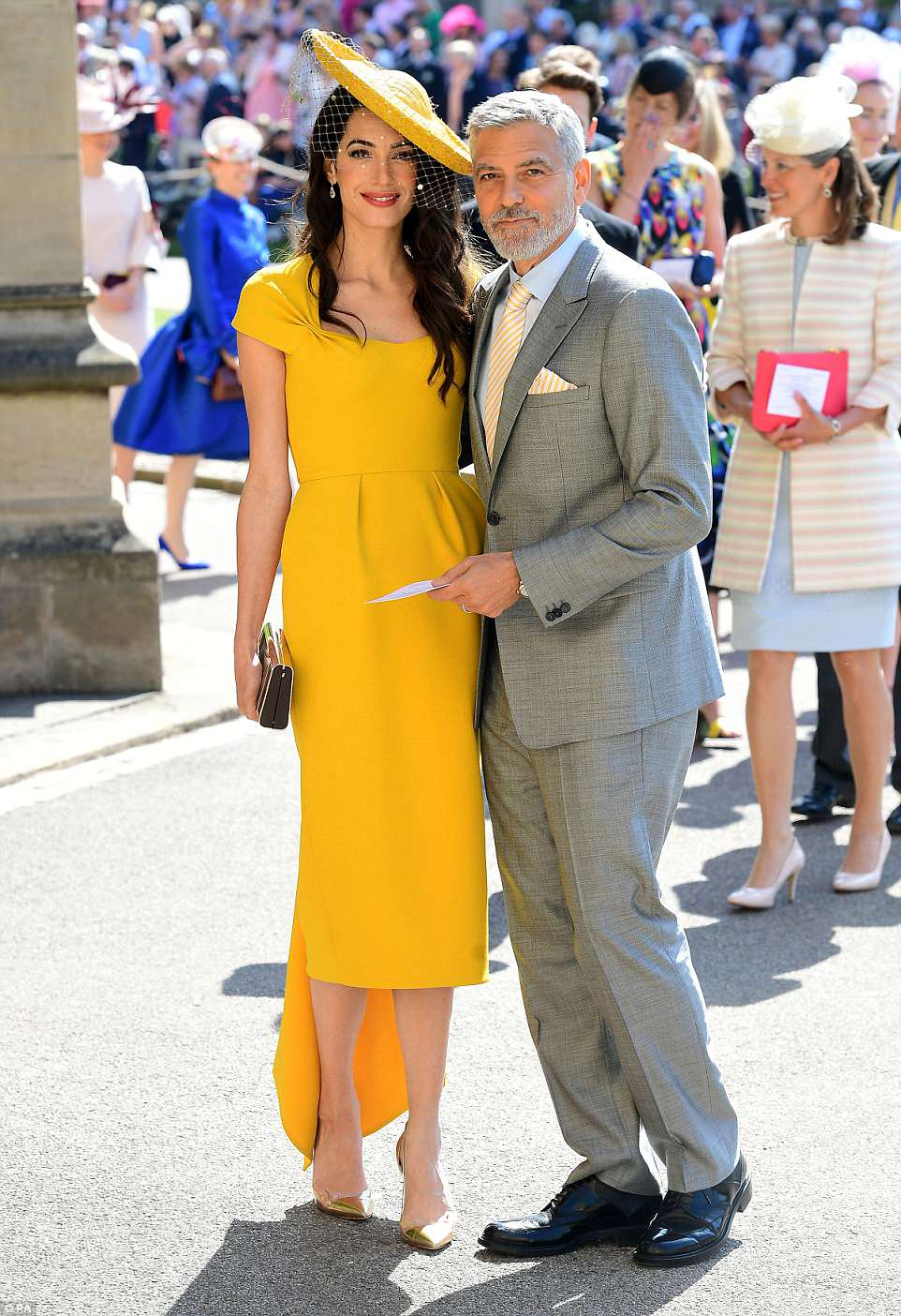George and Amal Clooney at the Royal Wedding - Page 2 4C6BD31900000578-5747477-image-a-143_1526723443015