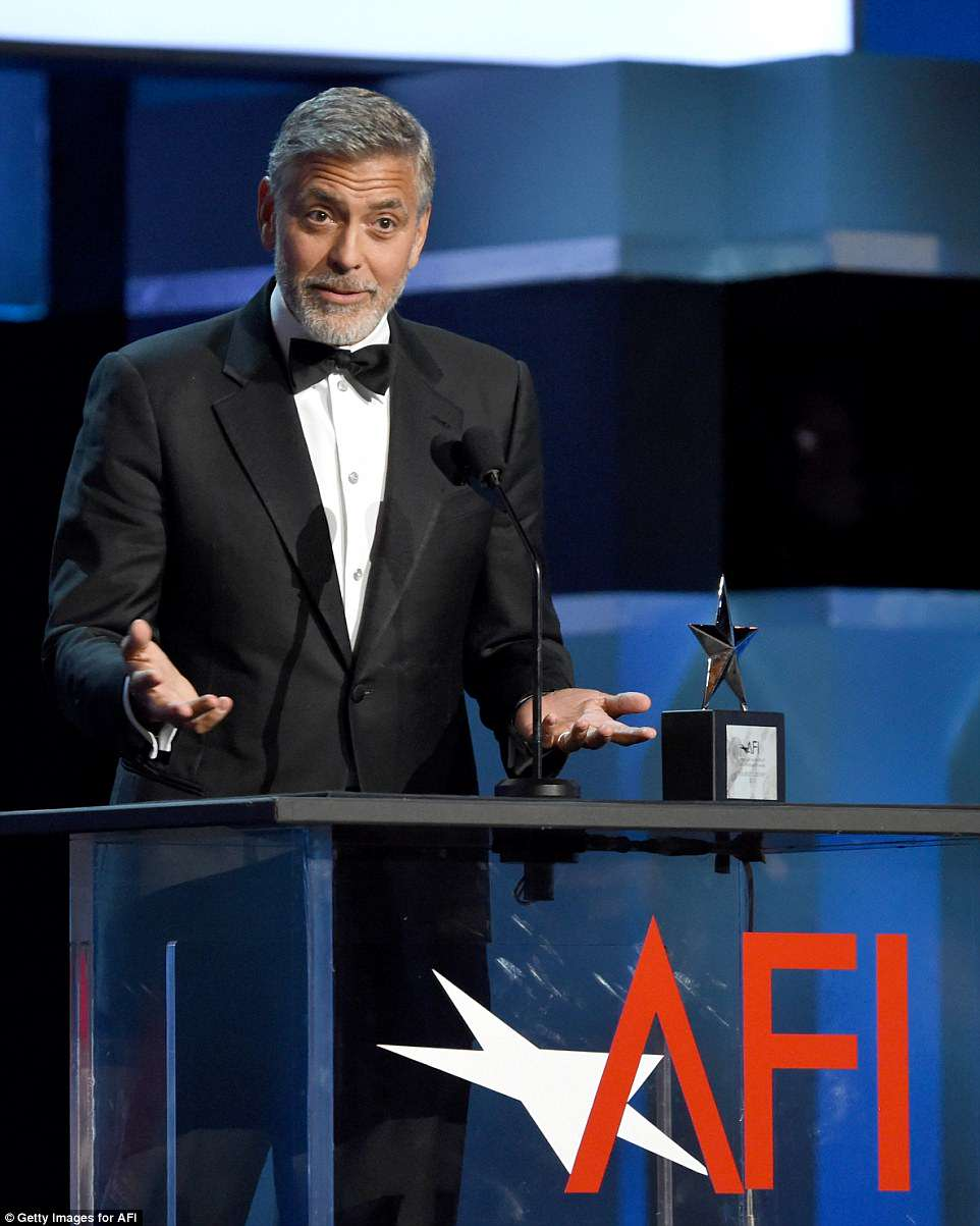 Daily mail Amal's Speech At AFI Gala 4D09F61D00000578-5819721-Winner_George_looked_quite_energized_when_he_ventured_on_stage_t-a-10_1528442354559