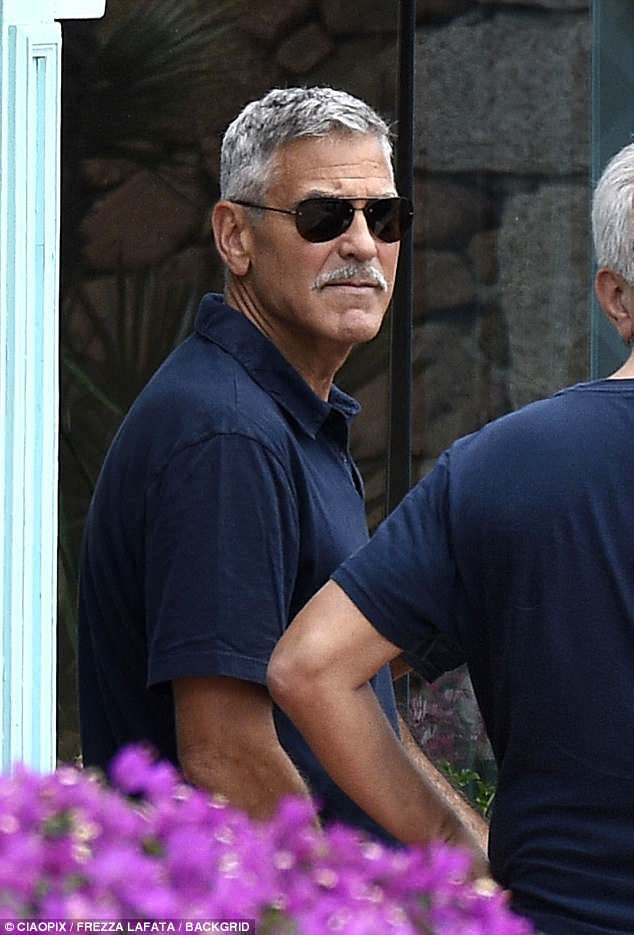 Nina, Nick, Baaria in Sardinia with George and Amal 4DBC3E3C00000578-5898341-Multi_talented_The_actor_has_grown_a_mustache_for_his_role_in_th-a-12_1530219811672