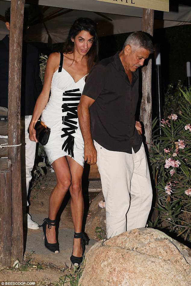 Daily Mail George and Amal out to dinner match in monochrome looks 4DCF929600000578-0-image-a-17_1530446246295
