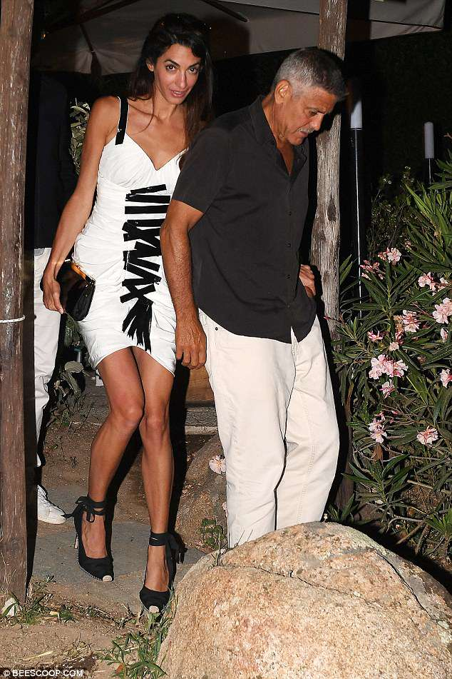 Daily Mail George and Amal out to dinner match in monochrome looks 4DCF8ED900000578-5906063-image-m-31_1530447092937