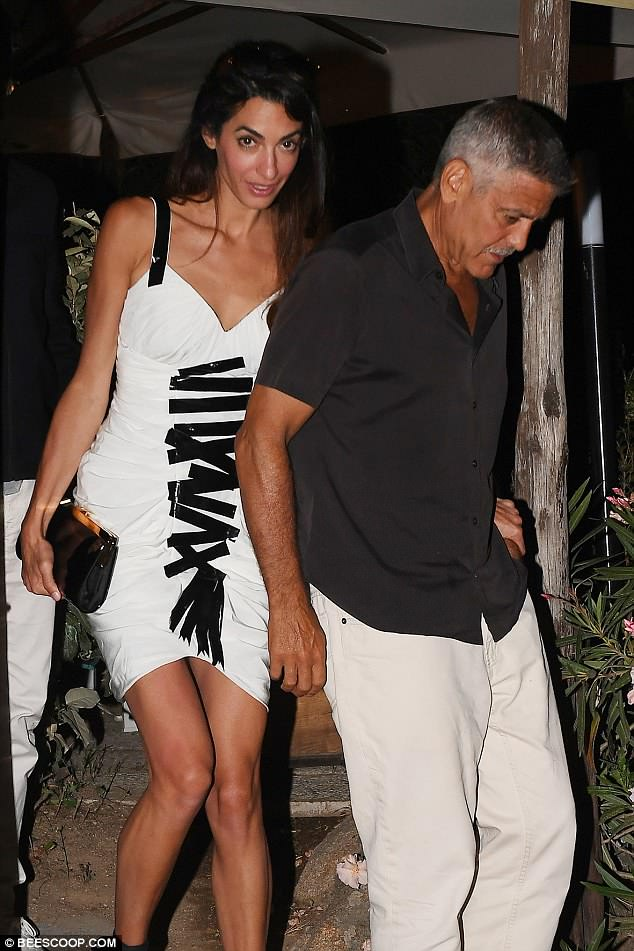 Daily Mail George and Amal out to dinner match in monochrome looks 4DCF929200000578-5906063-image-a-32_1530447156967