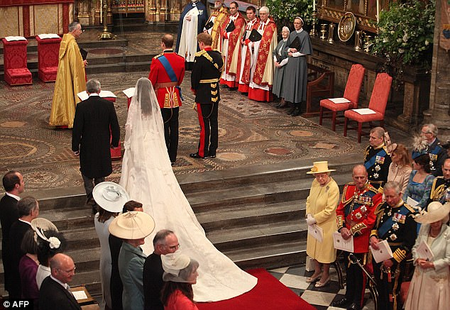 Magical wedding for a Royal bride... and even the vergers were doing cartwheels in the aisle Article-1381795-0BD372D200000578-634_634x437