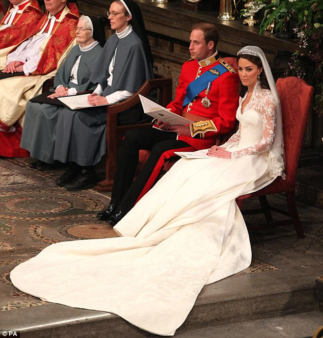 Magical wedding for a Royal bride... and even the vergers were doing cartwheels in the aisle Article-1381795-0BD37D7C00000578-734_634x663